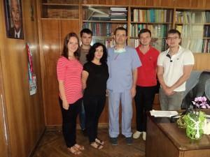 З завідувачем кафедри дитячої хірургії та урології, професором Даріушем  Патковським