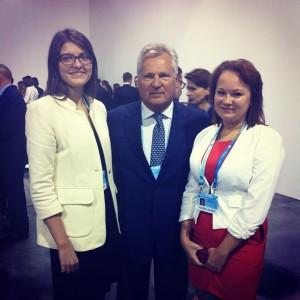 With Aleksander Kwasniewski, former President of Poland