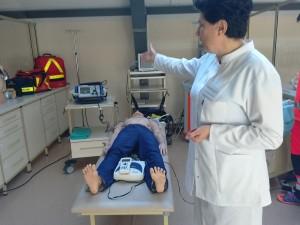 в кабінеті підготовки спеціалістів з медичного рятівництва