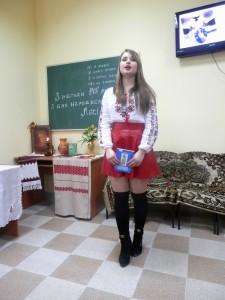 Студентка I курсу V групи Каріна Юля, вірш «Скрізь плач, і стогін, і ридання»