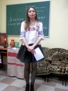 Студентка IV курсу I групи Рубленик Марія, вірш «Сафо»