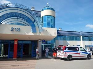 Університетський шпиталь клінічний, головний вхід.