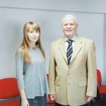 Доцент Суховолець Ірина та ректор Вроцлавського медичного університету, завідувач кафедри пар одонтології, професор Зентек Марек.