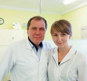 Завершення прийому. Професор Конопка Томаш та доцент Суховолець Ірина.