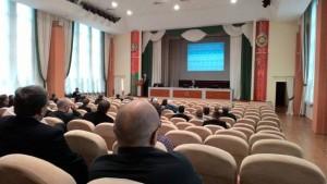 Актова зала Комітету судових експертиз РБ (під час секційного засідання).